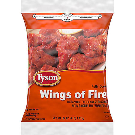 Tyson Fully Cooked Wings of Fire, Frozen (64 oz.)