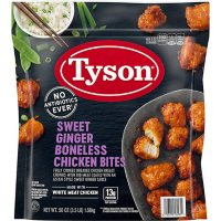 Tyson Fully Cooked Sweet Ginger Boneless Chicken Bites, Frozen (3.5 lbs.)