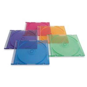 Verbatim CD/DVD Color Slim Cases, 100pk