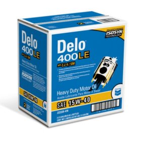 Chevron Delo 400 LE SAE 15W-40 Heavy-Duty Motor Oil (2.5 gallons, 2-pack)