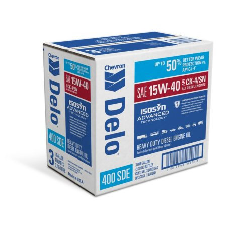 Delo 400LE SAE 15W40 Heavy Duty Motor Oil- 1 Gallon Bottles - 3 Pack