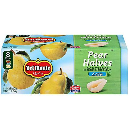 Del Monte Lite Pear Halves (15 oz., 8 pk.)