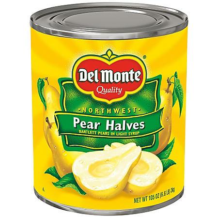 Del Monte Pear Halves (105 oz.)