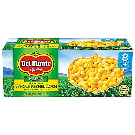 Del Monte Golden Sweet Whole Kernel Corn (15.25 oz., 8 pk.)