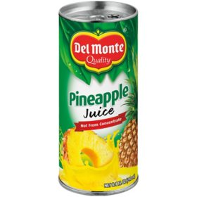 Del Monte 100% Pineapple Juice ( 8.1 oz., 24 pk.)