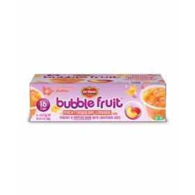Del Monte Bubble Fruit Cups, Peach Strawberry Lemonade (4 oz., 16 pk.)