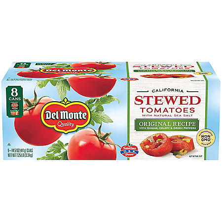 Del Monte Stewed Tomatoes  (15.4 oz., 8 pk.)