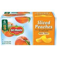 Del Monte Sliced Peaches in 100% Juice (15 oz., 6 pk.)