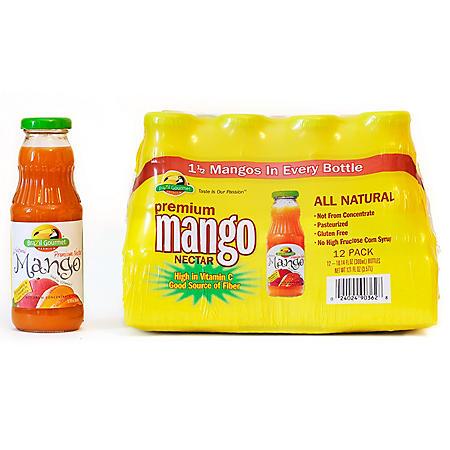 Brazil Gourmet Mango Nectar - 10.14 oz. glass bottles - 12 pk.