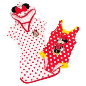 Minnie Mouse Coverup Dress and One-Piece Swimsuit Set