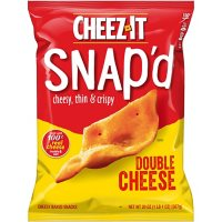 Cheez-It Snap'd Double Cheese Cracker Chips, Thin Crisps, Lunch Snacks (20 oz.)