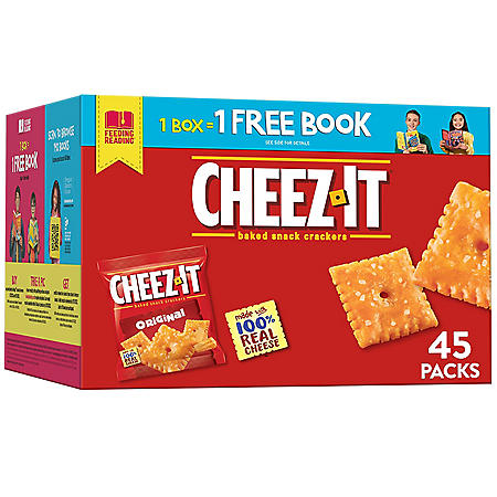 Cheez-It Baked Snack Cheese Crackers, Original (67.5 oz. box , 45 ct.)