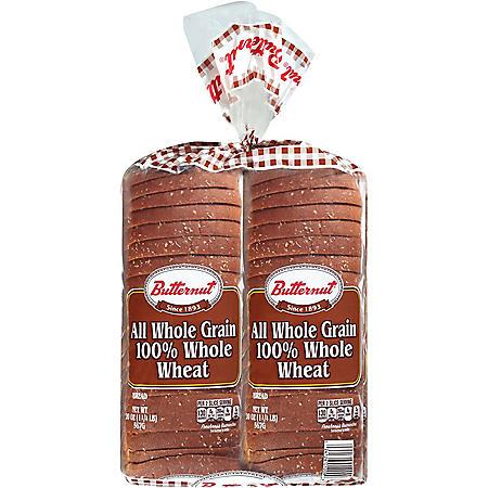 Butternut 100% Whole Wheat Bread (20 oz. / 2 pk.)