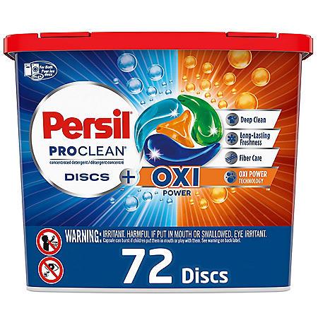 Persil ProClean Discs Laundry Detergent Pacs, Plus OXI Power (72 ct.)