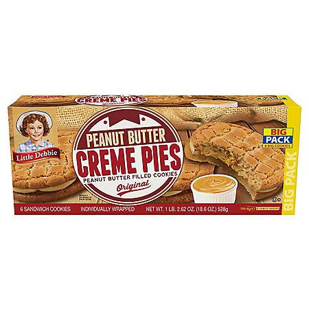 Little Debbie Peanut Butter Crème Pies (3.1oz / 6pk)