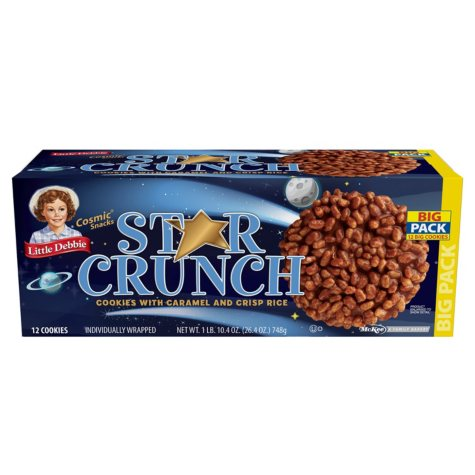 Little Debbie Star Crunch Cosmic Snacks - 12 ct.
