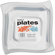 "Plastic Party Plates Variety Pack, 10.25""/7.5"" (80 ct.)"