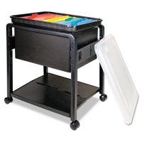 Advantus Folding Mobile File Cart, 14.5W x 18.5D x 21.75H (Clear/Black)