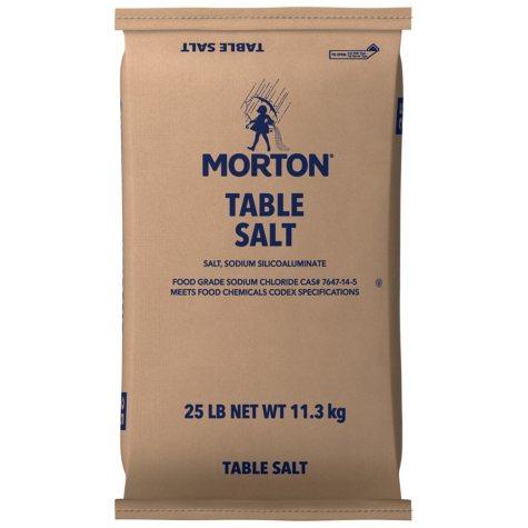 Morton® Plain Table Salt - 25 lb. bag