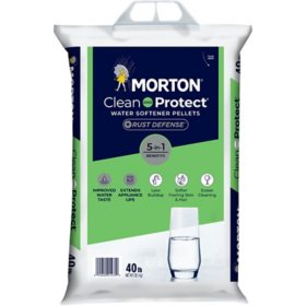 Morton Clean and Protect with Rust Defense Water Softener Pellets (40 lbs.)