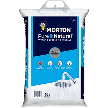Morton Solar Salt Water Softening Crystals 40 Lbs Sam