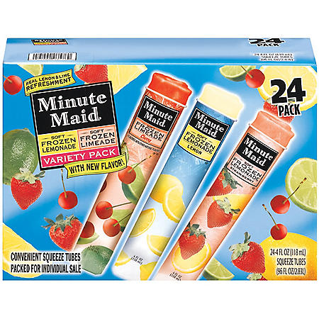 Minute Maid® Soft Frozen Variety Pack  (4 oz., 24 ct.)