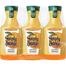 Simply Orange Original Pulp-Free Orange Juice (1.75 L, 3 ct.)