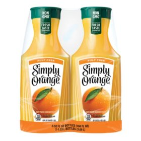 Simply Pulp-Free Orange Juice (52 fl. oz., 2 pk.)