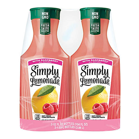 Simply Lemonade With Raspberry (52 fl. oz., 2 pk.)