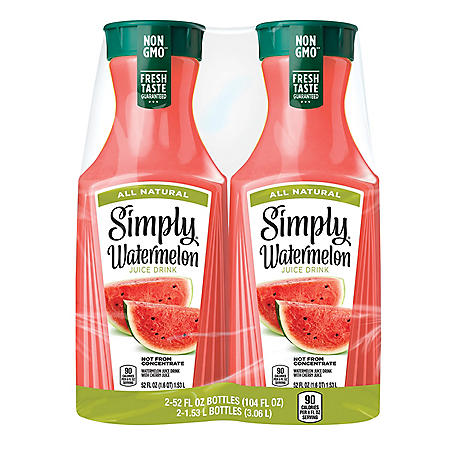 Simply Watermelon Juice Drink (52 fl. oz., 2 pk.)