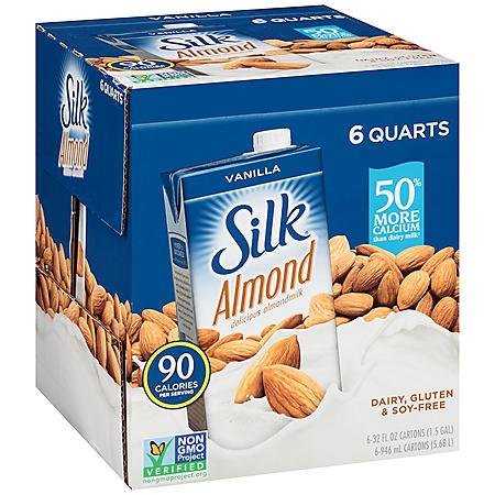 Silk Vanilla Almond Milk (32oz / 6pk)