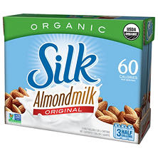 Silk Organic Almond Milk Original (3 half gallons)