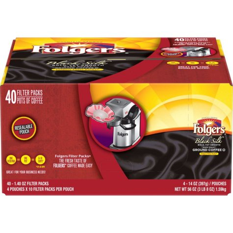 Folgers Black Silk Filter Pack (1.4 oz., 40 ct.)