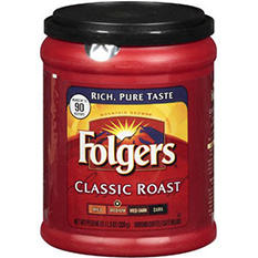 Folgers Classic Roast Ground Coffee (11.3 oz. can)