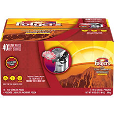 Folgers Colombian Filter Pack (1.40 oz., 40 ct.)