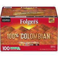 Folgers 100% Colombian Medium Roast Coffee K-Cups (100 ct.)