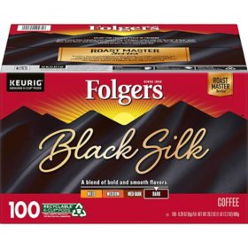 Folgers Black Silk Coffee K-Cups, Dark Roast (100 ct.)