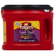 Folgers French Medium Dark Roast Ground Coffee (24.2 oz. canister)