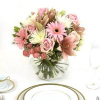 Wedding Collection Pink, Centerpieces (6 pieces)