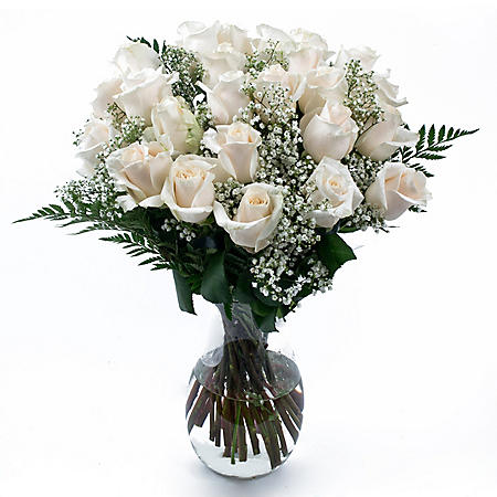 Rose Bouquet, White (6 bouquets, vases not included)