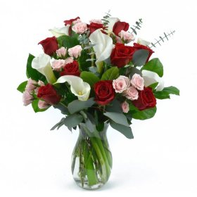 Rose & Calla Lily Bouquet (choose your color)