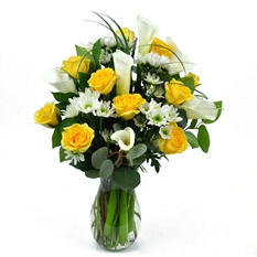 Yellow Rose& Calla Lily Bouquet
