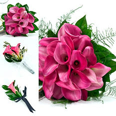 Mini Calla Pink Wedding Collection (17 pc.)