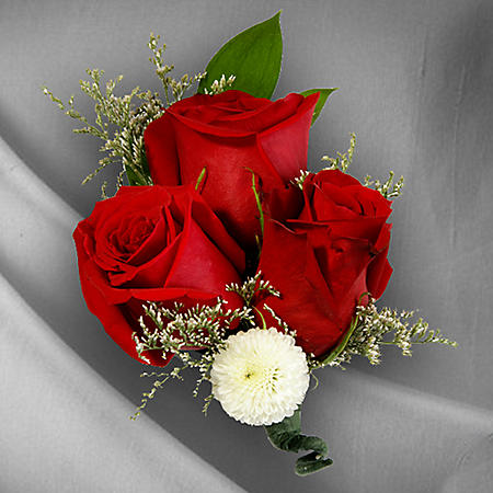 Wedding Collection Red and White, Corsage and Boutonniere (Choose 12 or 24 pieces)