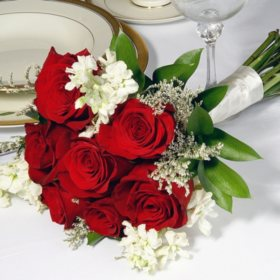 Wedding Collection Red and White, Bridesmaid Bouquets (Choose 2 or 3 pieces)