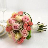 Wedding Collection Pink, Bridesmaid Bouquets (Choose 2 or 3 pieces)