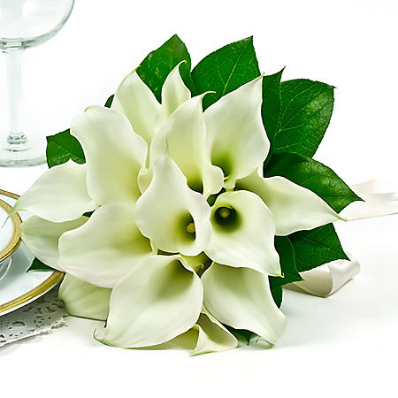 Wedding Collection Mini White Calla Lily, Bridesmaid Bouquets (Choose 2 or 3 pieces)
