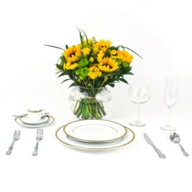 Wedding Collection Country Sunflower, Centerpieces (6 pieces)
