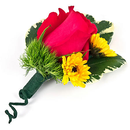 Wedding Collection Sunflower Bright, Corsage and Boutonniere (Choose 12 or 24 pieces)