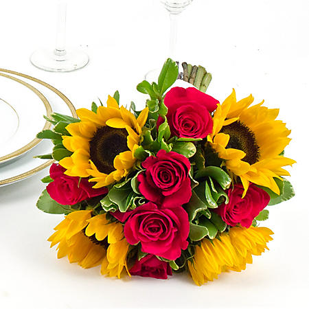 Wedding Collection Sunflower Bright, Bridesmaid Bouquets (Choose 2 or 3 pieces)